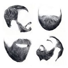 Pretty sure the top left is a profile of my friend Dave Carter w/ beard...