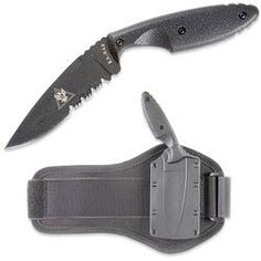Ka-Bar TDI - serrated, ankle holster