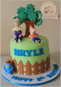 Phineas & Ferb Cake - For all your cake decorating supplies, please visit craftcompany.co.uk