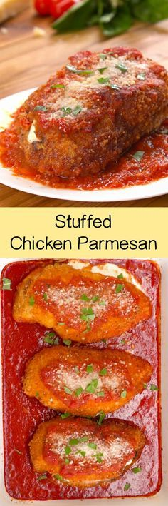 Easy Stuffed Chicken Parmesan