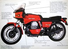 Brochure - Moto Guzzi 850 Le Mans II version 2 Tonti frames Moto Guzzi Topics on Gregory Bender's This Old Tractor Moto Guzzi Motorcycles, Cafe Racer Motorcycle, Indian Motorcycles, Motorcycle Manufacturers, Classic Italian, Custom Bikes, Motogp, Cool Bikes, Le Mans