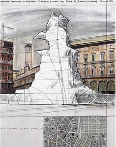 Christo Javacheff, Wrapped monument to Vittorio Emanuele, Milan