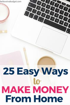If you want to side hustle to make extra money, here are 25 easy ways to make money from home. As long as you have a computer and internet, you can start a side hustle today. I have tried most of these side hustles and made THOUSANDS of dollars over the p