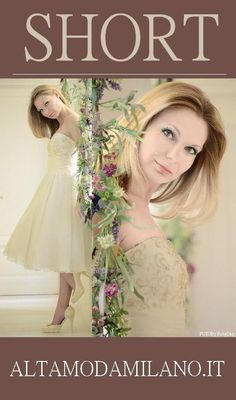 Abito sposa CORTO un TREND che si riafferma anche per le nuove collezioni di abiti da sposa 2013 2014 TEL 0276013113
