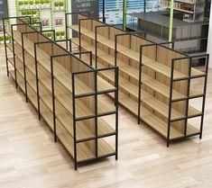 Supermarket Design, Retail Store Design, Retail Stores, Retail Display Shelves, Shop Shelving, Regal Display, Showroom Interior Design, Retail Interior, Pharmacy Design