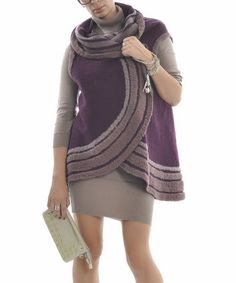 Look at this Zed Collection Purple Stripe Vest on #zulily today!