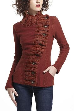 Anthropologie Front button sweater