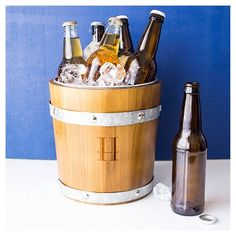 Cathy's Concepts Personalized Rustic Ice Bucket - Y, Brown Silver