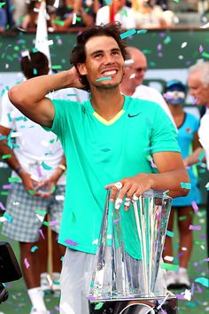 Article & Video: Rafael Nadal wins Indian Wells - and his first hard court title since 2010.  #tennis