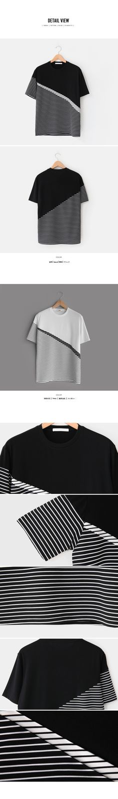 スラッシュボーダー半袖Tシャツ・全2色