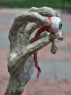 cool halloween yard decorating ideas halloween props creepy hand eyeball