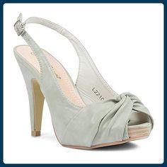 Footwear Sensation ,  Damen Sling Backs , Grün - grün - Größe: 38.5 - Sandalen für frauen (*Partner-Link)
