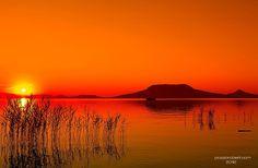 Sonnenuntergang am  Balaton, Ungarn  #ungarn #Balaton #plattensee http://www.fitreisen.de/kuren-wellness-ungarn.html