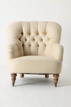 corrigan chair from anthro...linen!