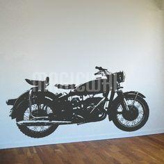 Vintage Bike - Motorcycle - Wall Decals Stickers