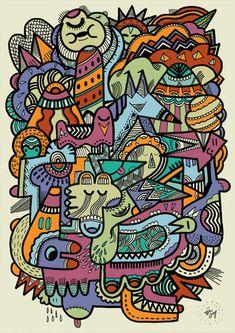 Punky had a dream of fairgrounds : uberkraaft #illustration