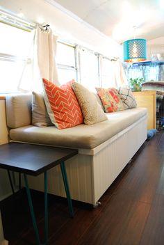 This Blue Bird School Bus is a Cute Couple's Cozy Home — House Tour