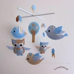 Welcome to Lovelyfriend Custom Baby Mobile Shop! Decorating this unique and lovely mobile to your baby nursery. Your baby will enjoy watching little