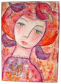 MOO MANIA CHALLENGE ...meets... Mix it Monthly - Art by Susy Froebelsternchen