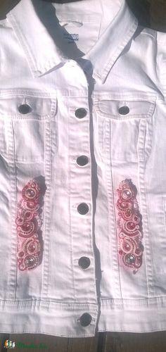 Rózsaszín-fehér sujtás kabátdísz, Dekoráció, Dísz, Meska Button Down Shirt, Men Casual, Mens Tops, Shirts, Fashion, Moda, Fashion Styles, Casual Male Fashion, Shirt