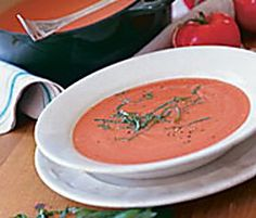 Silky tomato soup is like the little black dress of soups. Unadorned and paired with a grilled cheese sandwich, it's a comforting lunch. Dressed up with simple garnishes, it makes a sophisticated start to a dinner party.