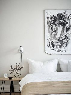 Home Decor – Bedrooms :     A Swedish apartment in white, grey and tan | These Four Walls blog    -Read More –