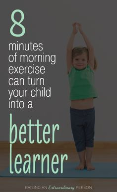 8 Minute Morning Workout for Kids - ADHD & Autism Resources for Parents Learn how exercising in the morning actually makes kids better learners - helping them focus and retain more information to memory - helps kids with ADHD and autism too . Gross Motor Activities, Toddler Activities, Learning Activities, Kids Learning, Cognitive Activities, Dementia Activities, Gross Motor Skills, Educational Activities, Child Development Activities