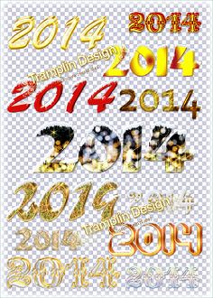 2014 new year text images ribbons borders