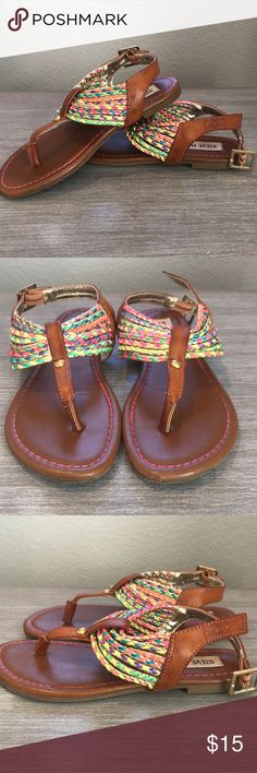 40ee79d7f92f Girls Steve Madden leather rainbow sandals size 1 In great condition. Girls  size 1 Steve