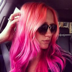 Fresh coral and pink color by @bitoblonde pravana pastels and joico