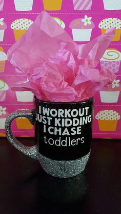 Check out this item in my Etsy shop https://www.etsy.com/listing/264885340/i-workout-just-kidding-glitter-mug