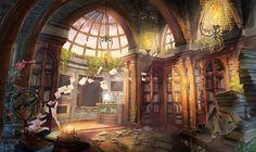 Библиотека в замке Гринворт