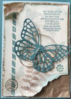 Butterflies Schmetterlingsgruss Stampin 'Up! SU Stempelsüchtig auf Facebook