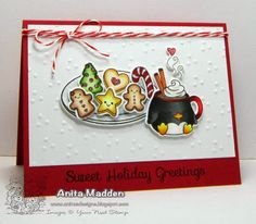Your Next Stamp - Sweet Holiday Greetings stamp and die set #yournextstamp