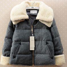 限量2013冬女装韩版双层大翻领加厚棉服外套羊羔绒呢子保暖短棉衣-淘宝网