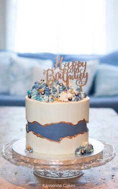 Blue Birthday Cakes, Elegant Birthday Cakes, 18th Birthday Cake, Beautiful Birthday Cakes, Birthday Cakes For Women, Beautiful Cakes, Birthday Cake For Women Elegant, Birthday Cake Designs, Birthday Ideas