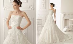 Aire Barcelona 2013 Embroidered Bridal Dress style RAQUEL