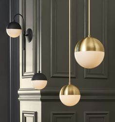These contemporary lights are sure to light up any room.