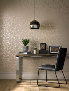 Looking for office decor inspiration? This luxury wallpaper from 1838 Wallcoverings is a geometric style wallpaper inspired by a broken mirror. Geometric Shapes Wallpaper, Metallic Wallpaper, Luxury Wallpaper, Modern Wallpaper, Carpet Fitters, Broken Mirror, What's Your Style, Shattered Glass, Gull