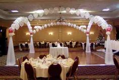 Wedding Reception Decorations Balloons Archway