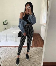 11 most cute casual outfits ideas for teen girls 2 Cute Fall Outfits, Winter Fashion Outfits, Simple Outfits, Denim Fashion, Stylish Outfits, Spring Outfits, Girl Outfits, Sporty Fashion, Formal Outfits