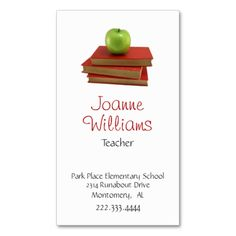 2148 best teacher business cards images on pinterest teacher stylish teacher business card flashek Gallery