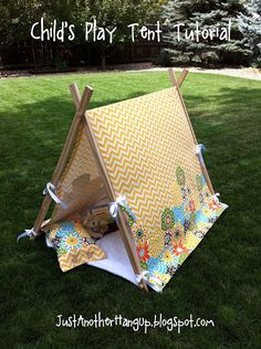 Child's Play Tent Tutorial...