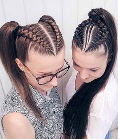 36 Pretty Chic Braided Hairstyles For Every Hair Type braids;easy braids… 36 Pretty Chic Braided Hairstyles For Every Hair Type braids;up style; 4 Braids Hairstyle, Pretty Braided Hairstyles, Easy Hairstyles For Medium Hair, Little Girl Hairstyles, Hairstyles With Braiding Hair, Hair Braiding Styles, Beautiful Hairstyles, Braids With Curls, Braids For Long Hair