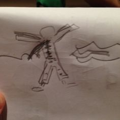 My Dad's drawing of a wetsuit in last nights game of pictionary