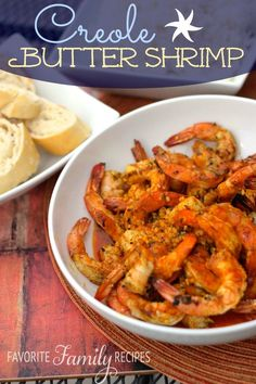 Creole Butter Shrimp from favfamilyrecipes.com - This recipe for Creole Butter Shrimp was so buttery, flavorful, and delicious. We couldn't stop popping these. I am addicted to all things New Orleans and this recipe made me feel like we were right back there! We made this and poured the shrimp and sauce over some white rice along with a side of sourdough bread. It made such a good meal.