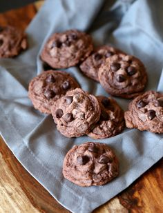 Soft Double Chocolate Pudding Cookies - Super soft and chocolatey and SIMPLE! I make these cookies ALL the time and everyone loves them!