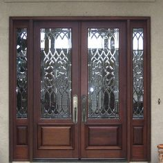 Our Estate Door collection represents the finest, traditional doors you will find and they can dress-up the look of any home. Most doors feature leaded glass, but you will also find many beautiful doors with solid panels. Double Front Doors, Glass Front Door, Sliding Glass Door, Front Entry, Glass Doors, Door Entryway, Entrance Doors, Entrance Ways, Grand Entrance
