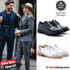 Drexel Shoes sokak modasının nabzını tutmaya devam ediyor. Ücretsiz kargo, kapıda ödeme ve taksit seçenekleriyle!