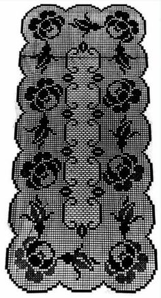 Crochet Tablecloth Pattern, Crochet Doily Patterns, Crochet Doilies, Crochet Stitches, Fillet Crochet, Arts And Crafts, Embroidery, Toque, Crochet Blankets
